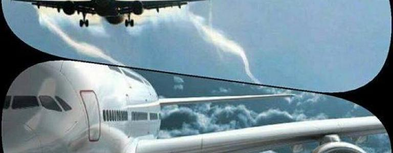 Urgent.. Two planes collide in the sky near the airport